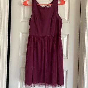 Plum colored dress